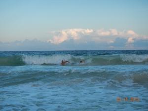 Body surfing at Boca Pila in the Sian Ka'an