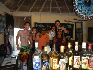 Us with the gang at Zazil Kin - Tulum